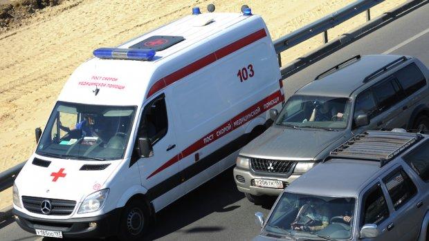 Женщина пострадала встолкновении маршрутки и грузового автомобиля  вПодмосковье